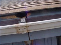 homes dislodged gutter